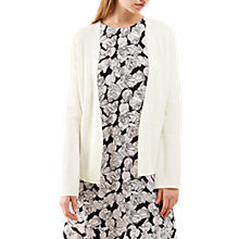 Buy Jigsaw Flute Back Knit Jacket, Ivory Online at johnlewis.com