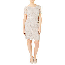 Buy Jacques Vert Petite Leaf Lace Dress, Mid Neutral Online at johnlewis.com