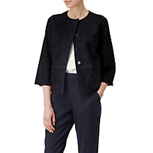 Buy L.K. Bennett Suzi Suede Jacket, Navy Online at johnlewis.com