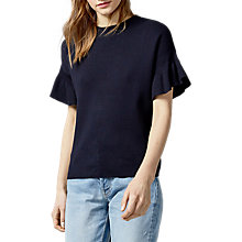 Buy Warehouse Frill Sleeve Top Online at johnlewis.com