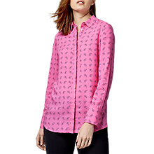 Buy Warehouse Paisley Pattern Shirt, Pink Online at johnlewis.com
