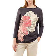 Buy Jigsaw Floating Poppy Print Silk Front Jumper Online at johnlewis.com