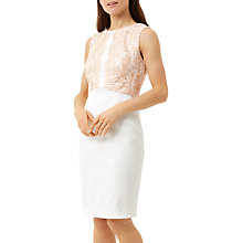 Buy Fenn Wright Manson Petite Crete Dress, Peach/White Online at johnlewis.com