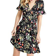 Buy Oasis Spring Bouquet Wrap Dress, Black/Multi Online at johnlewis.com