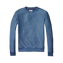 Buy Tommy Hilfiger Sloucy Crew Neck Sweatshirt, Ensign Blue Online at johnlewis.com