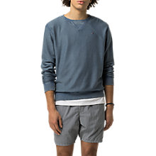 Buy Hilfiger Denim Slouchy Crew Neck Sweatshirt, Ensign Blue Online at johnlewis.com