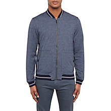 Buy Ted Baker Envisa Mouline Bomber Jacket, Navy Online at johnlewis.com