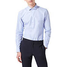 Buy Jigsaw Italian End on End Slim Fit Shirt, Blue Online at johnlewis.com