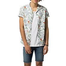 Buy Tommy Jeans Regular Floral Shirt, Tropical Print Online at johnlewis.com