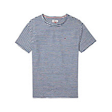 Buy Tommy Hilfiger Relax Stripe Crew T-Shirt, Ensign Blue/Multi Online at johnlewis.com