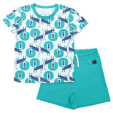 Buy Polarn O. Pyret Baby Lion T-Shirt and Shorts Pyjamas, Green Online at johnlewis.com