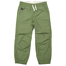 Buy Polarn O. Pyret Children's Cotton Cuff Trousers, Green Online at johnlewis.com