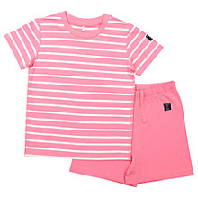 Buy Polarn O. Pyret Baby Striped Top and Shorts Pyjama Set Online at johnlewis.com