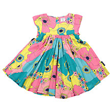Buy Polarn O. Pyret Baby Flower Print Dress, Pink/Green Online at johnlewis.com