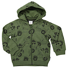 Buy Polarn O. Pyret Baby Safari Print Hoodie, Green Online at johnlewis.com