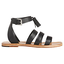 Buy Whistles Tassel Gladiator Sandals, Black Online at johnlewis.com