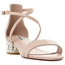 Buy Dune Mermaid Embellished Cross Strap Sandals, Blush Online at johnlewis.com