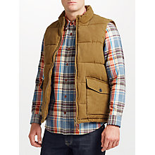 Buy JOHN LEWIS & Co. Canvas Gilet, Brown Online at johnlewis.com