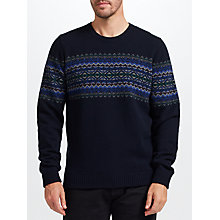 Buy John Lewis Fair Isle Chest Pattern Jumper, Multi Online at johnlewis.com