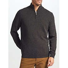 Buy John Lewis Merino Cashmere Zip Neck Jumper Online at johnlewis.com
