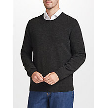 Buy John Lewis Merino Cashmere Crew Neck Jumper, Charcoal Online at johnlewis.com