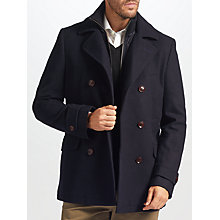 Buy John Lewis 2-in-1 Pea Coat, Navy Online at johnlewis.com