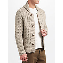 Buy JOHN LEWIS & Co. Hand Knit Cardigan, Grey Online at johnlewis.com