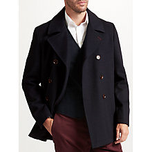 Buy John Lewis Premium Pea Coat Navy Online at johnlewis.com
