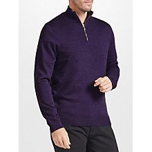 Buy John Lewis Merino Zip Neck Jumper Online at johnlewis.com