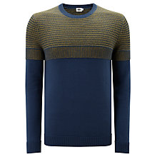Buy Kin by John Lewis Two Colour Raglan Stitch Jumper, Blue/Yellow Online at johnlewis.com