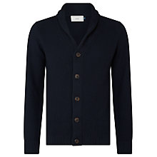 Buy John Lewis Moss Stitch Cotton Cardigan, Navy Online at johnlewis.com