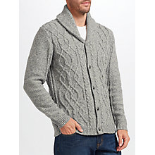 Buy John Lewis Frosty Cable Cardigan, Grey Online at johnlewis.com