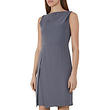 Buy Reiss Aster Fitted Drape Top Dress, Chalk Grey Online at johnlewis.com