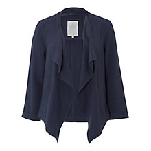 Buy White Stuff Linen Blend Waterfall Jacket, Grey Online at johnlewis.com