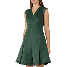 Buy Reiss Riviera Fit and Flare Volume Dress, Fern Green Online at johnlewis.com