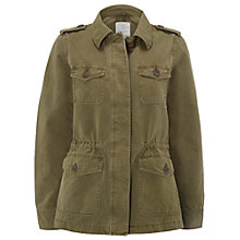 Buy White Stuff Lulu Utility Jacket, Khaki Online at johnlewis.com
