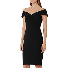 Buy Reiss Haddi Off The Shoulder Dress, Night Navy Online at johnlewis.com