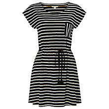 Buy White Stuff Stripe Jersey Tunic Top, Black/Multi Online at johnlewis.com