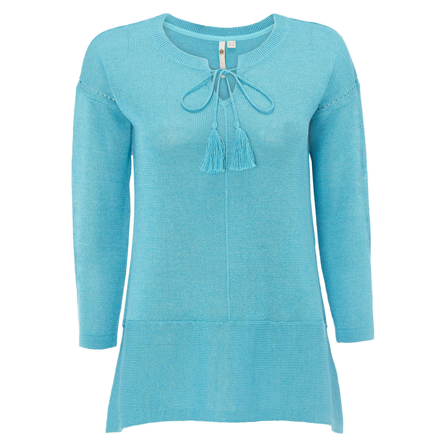 BuyWhite Stuff Tape It Up Knit Top, Turquoise, 6 Online at johnlewis.com