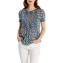 Buy White Stuff Sheila Shirring Detail Jersey T-Shirt, Multi Online at johnlewis.com