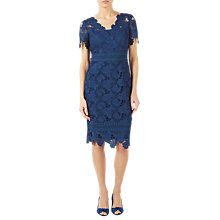 Buy Jacques Vert Lace Dress, Dark Blue Online at johnlewis.com
