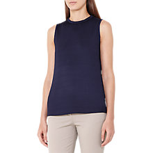 Buy Reiss Gaia Plisse Top, Indigo Online at johnlewis.com