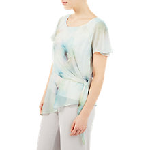 Buy Jacques Vert Printed Soft Tie Top, Green/Multi Online at johnlewis.com