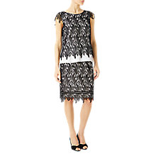Buy Jacques Vert Leaf Lace Skirt, Cream/Black Online at johnlewis.com