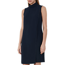 Buy Reiss Adie Roll-Neck Shift Dress, Night Navy Online at johnlewis.com