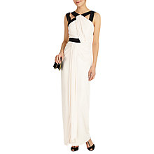 Buy Phase Eight Felicity Drape Maxi Dress, Black/Mauve Chalk Online at johnlewis.com