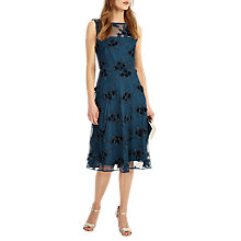 Buy Phase Eight Deidra Embroidered Dress, Petrol Online at johnlewis.com