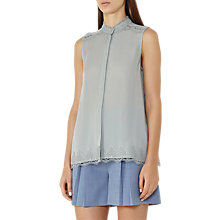 Buy Reiss Lace Hem Tank Top, Fern Online at johnlewis.com