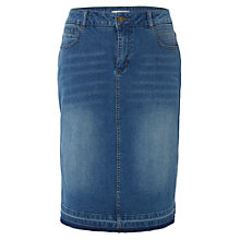 Buy White Stuff Kerala Fringe Hem Denim Skirt, Denim Online at johnlewis.com