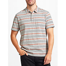 Buy John Lewis Double Stripe Polo Shirt, Grey Online at johnlewis.com